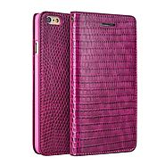 QIALINO Crocodile Pattern Rose Red Leather Case for iPhone 6 4.7 Inch - Qialino