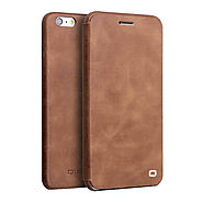 QIALINO Leather Magnet Flip Case for iPhone 6 4.7 Inch - Qialino