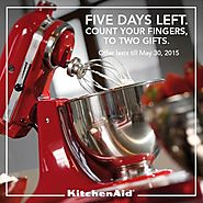 Gift Mom a KitchenAid Stand Mixer and we'll give