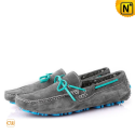 Gray Leather Loafers CW700812 - cwmalls.com