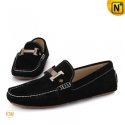 Mens Black Leather Loafers CW713125 - cwmalls.com