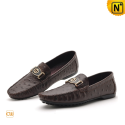 Brown Leather Driving Shoes CW712532 - cwmalls.com