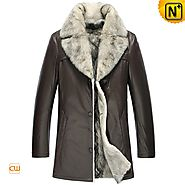 Mens Fur Trim Coat CW855209 - cwmalls.com
