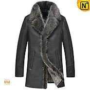Mens Fur Sheepskin Coat CW855483 - cwmalls.com
