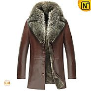 Mens Shearling Fur Coat CW855359 - cwmalls.com