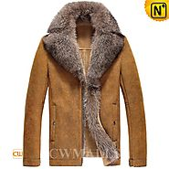 Fur Sheepskin Leather Jacket CW855489 - cwmalls.com