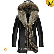 Hooded Fur Coat for Men CW855306 - cwmalls.com