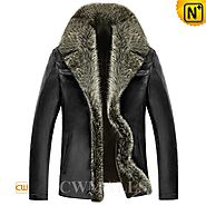 Fur Trim Shearling Jacket CW855351 - cwmalls.com