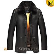 Golden Mink Fur Lined Coat CW857337 - cwmalls.com