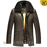 Brown Mink Fur Sheepskin Coat CW857335 - cwmalls.com
