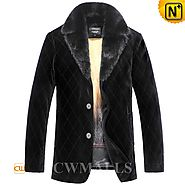 Mens Winter Mink Fur Coat CW857327 - cwmalls.com