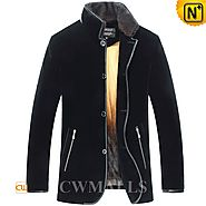 Men Shearling Mink Fur Coat CW857329 - cwmalls.com