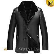 Mens Shearling Leather Blazers CW857051 - cwmalls.com