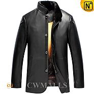 Mens Mink Fur Lined Leather Jackets CW857338