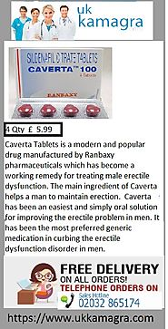 Caverta Tablets designed for treatment erectile dysfunction diseases