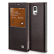 QIALINO Crocodile Pattern Leather Case For Samsung Galaxy Note 4 N9100 - Qialino