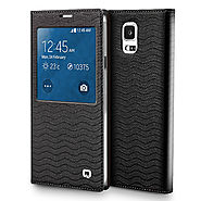 QIALINO Water Wave Pattern Leather Case For Samsung Galaxy Note 4 N9100 - Qialino