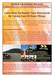 Some Benefits Of A Motorcycle Safety Course