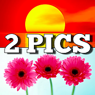 2 Pics Photo Puzzle - Jigsaws & Riddles: Play a general funny image letters word quiz