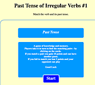MatchWord for English Study - Past Tense of Irregular Verbs #1 (Flash 5 Required)
