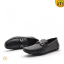 Black Leather Driving Loafers CW712395 - shoes.cwmalls.com