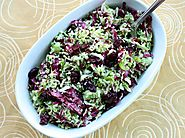 Shaved Brussels Sprout Salad With Radicchio, Cranberry, and Pistachios