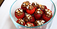 Summertime Sweet: Chocolate Almond Quinoa Stuffed Strawberries