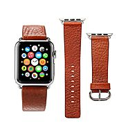 Plusinno Genuine Leather iWatch Band ($24.77)
