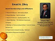 Emad A Zikry - CEO of VAAM LLC