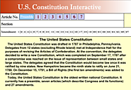 US Constitution Interactive