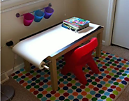 Creating a Kid's Art Table with a Bit of IKEA Style - Fork, Paper, Scissors