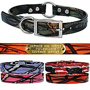 "Outdoor Dog Supply's Glow Tuff 3/4"" Pattern Colors D&O Dog Collar Strap- With Free Personalized Name Tag Plates (Oran..."