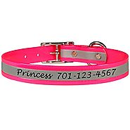 Personalized dogIDs Engraved Reflective Dog Collars for Medium to Large Size Dogs