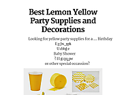 Best Lemon Yellow Party Supplies and Decorations