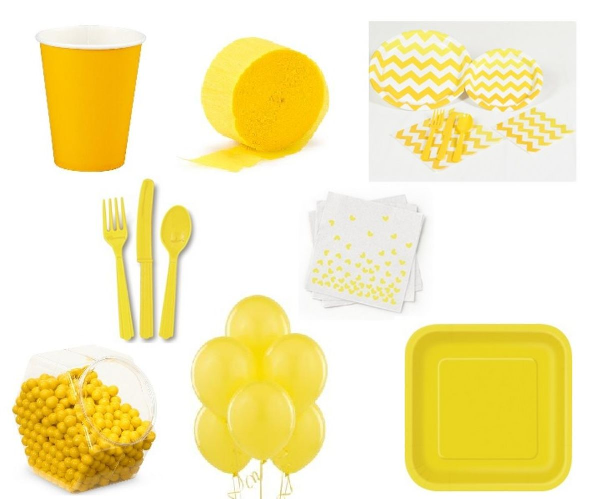 Headline for Awesome Yellow Party Supplies and Decorations