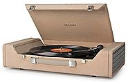 Crosley CR6232A-BR Nomad USB Portable Turntable (Brown)