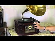 My New PYLE Vintage PVNP4CD Record Player and mp3 Recorder