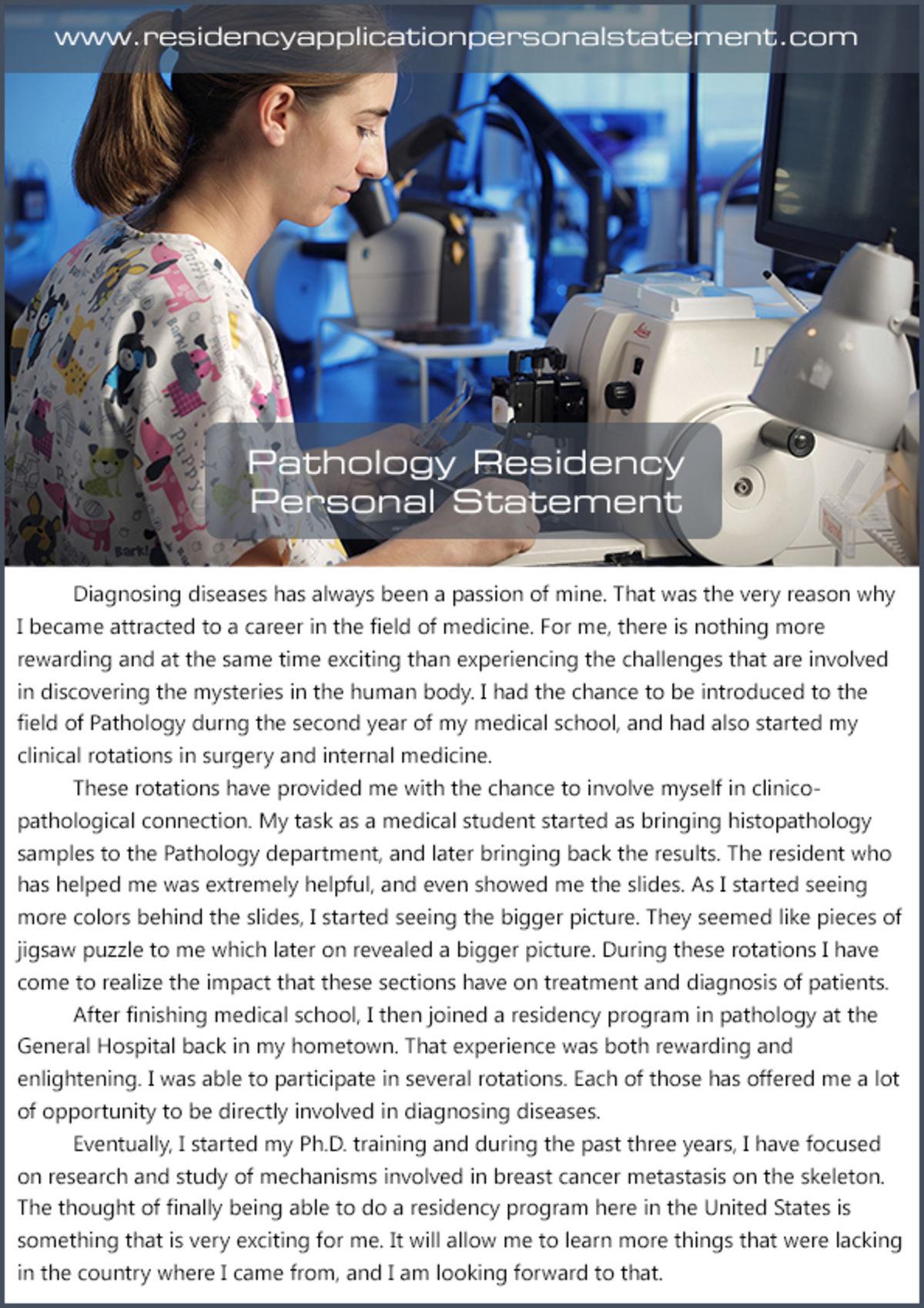 best internal medicine residency personal statement