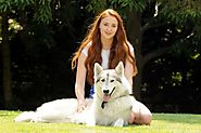 Sophie Turner owns a direwolf in real life!
