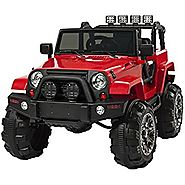 Bright Red Jeep For Kids