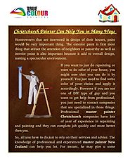 Christchurch Painter Can Help You in Many Ways