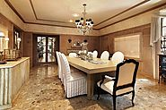 Luxury Square Dining Table For 8
