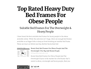 Top Rated Heavy Duty Bed Frames For Obese People