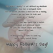 Fathers Day Poems From Kids and Daughters