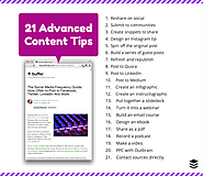 Get the Most From One Blog Post: 21 Advanced Content Tips