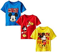Disney Little Boys' Mickey Mouse Toddler Boys Tee 3-Pack No 1, Assorted, 3T