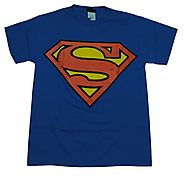 Superman Men's Classic Shield S Logo Tee
