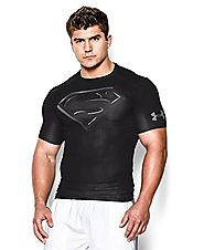 Under Armour Men's Alter Ego Short Sleeve Compression Shirt Large Black