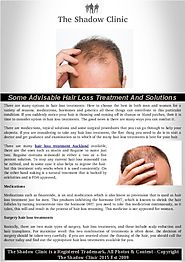Many Options in Hair Loss Treatments in Auckland