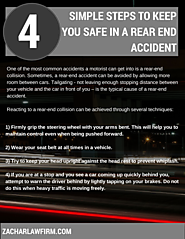 4 simple steps to keep you safe in a rear-end car accident.